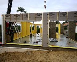 Massy - Heugas - Montage murs à ossature bois Barneche 2012